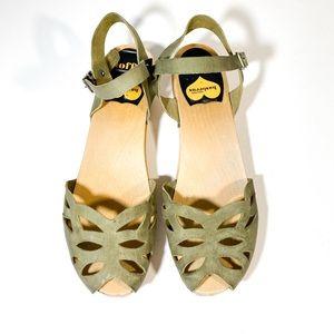 Swedish Hasbeens Lasercut Sandals